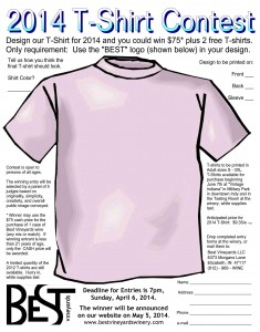 2014 t-shirt entry form