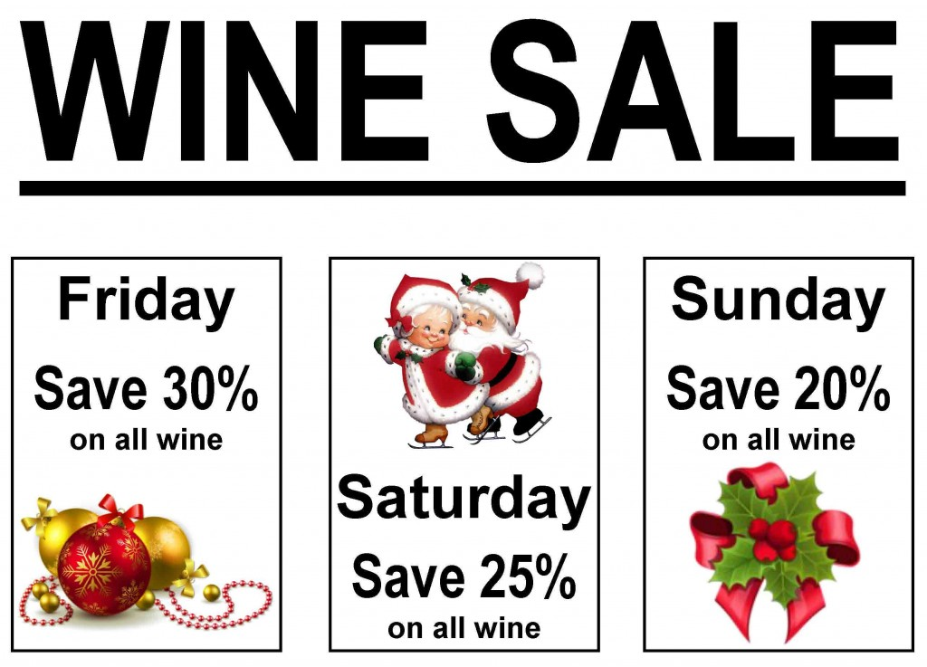 Holiday Wine Sale 2015