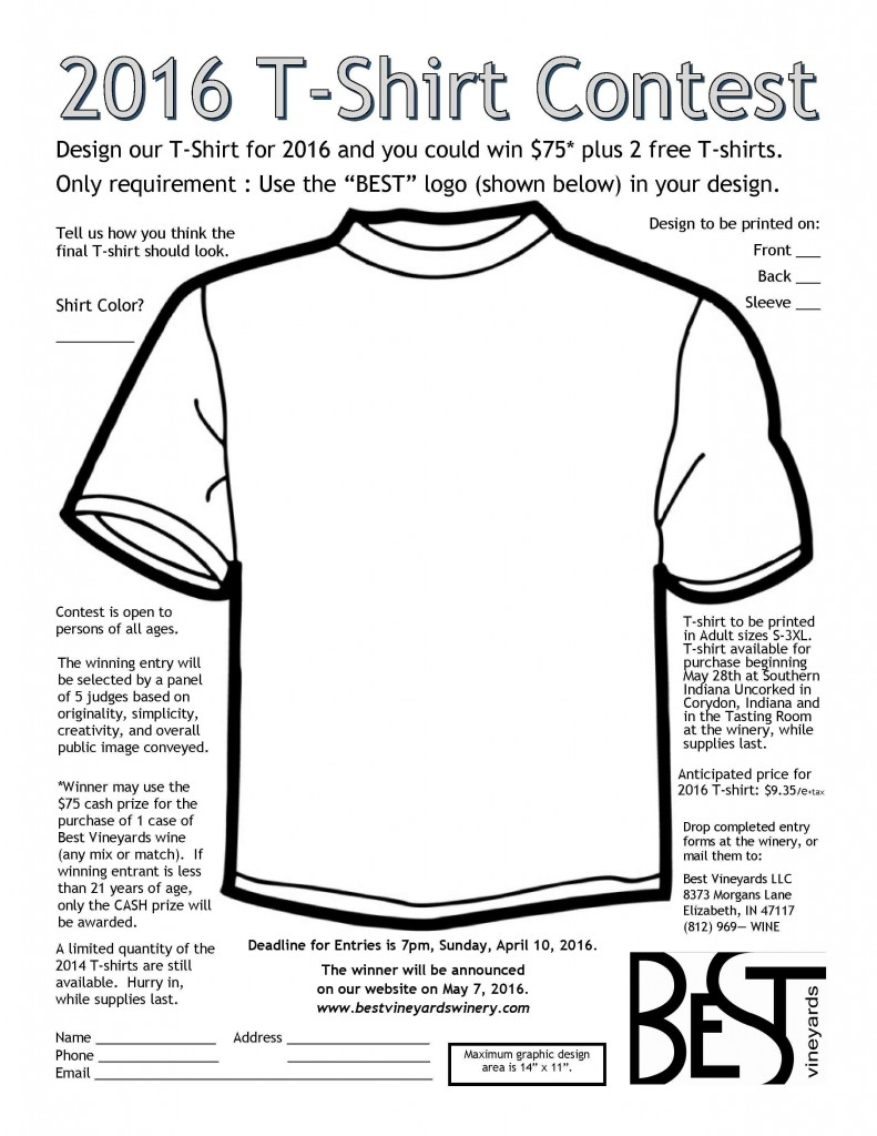 T-shirt contest 2016